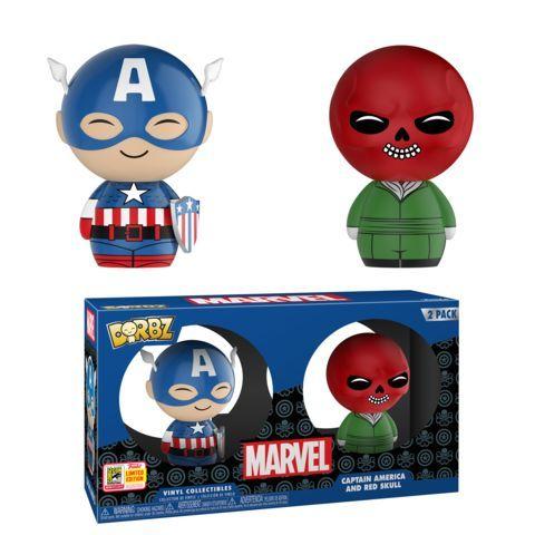 Funko SDCC Exclusive Marvel Captain America Red Skull Dorbz