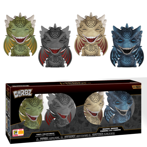Funko SDCC Game of Thrones Dragon Dorbz Four Pack