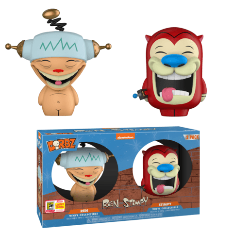 Funko SDCC Ren and Stimpy Happy Happy Joy Joy Dorbz Two Pack