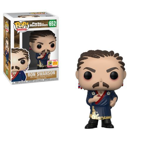 Funko SDCc Parks and Recreation Ron with Cornrows