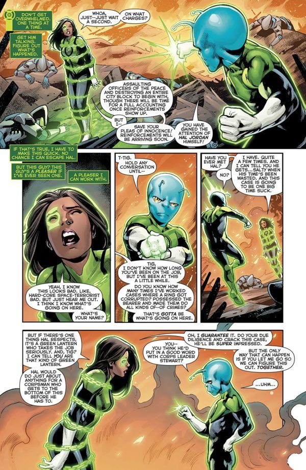 Green Lanterns #48 art by Ronan Cliquet and Hi-Fi