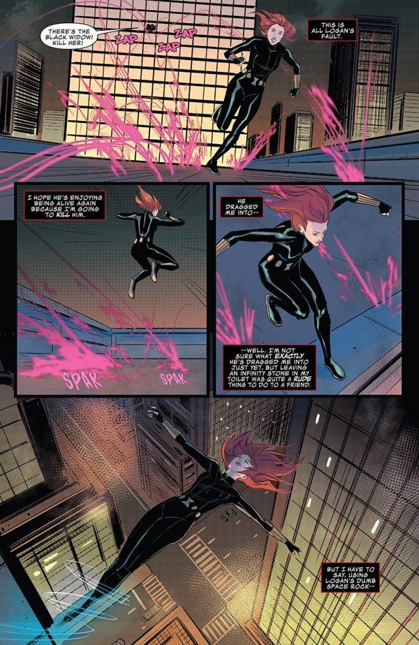 Infinity Countdown: Black Widow #1 art by Nik Virella and Cris Peter