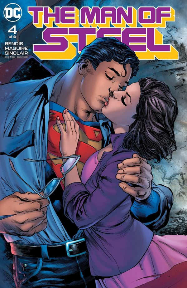 Man of Steel #4 cover by Ivan Reis, Joe Prado, and Alex Sinclair
