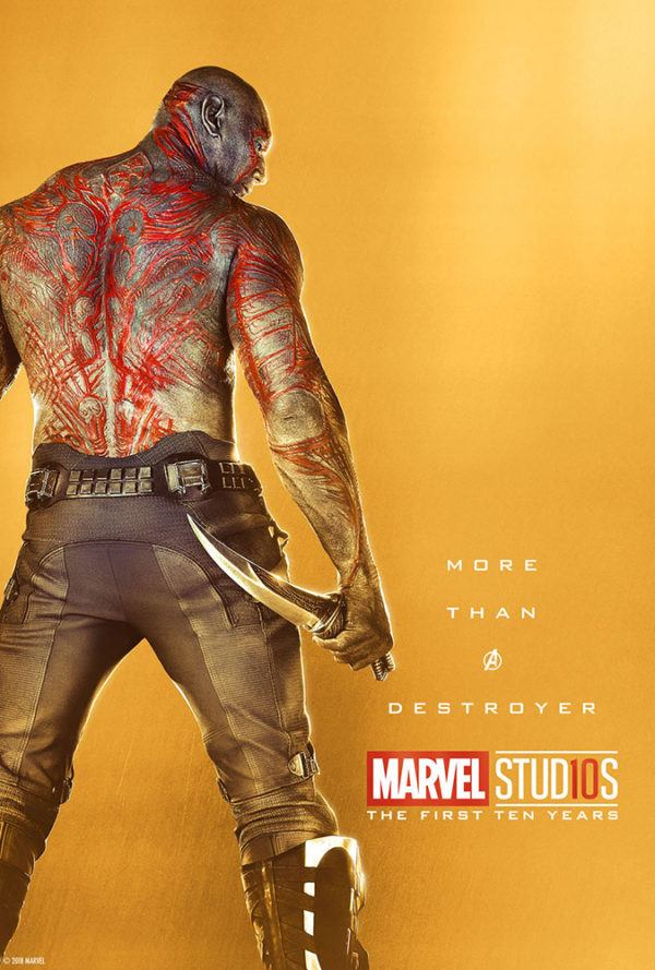 Marvel Studios More Than A Hero Poster Series Drax