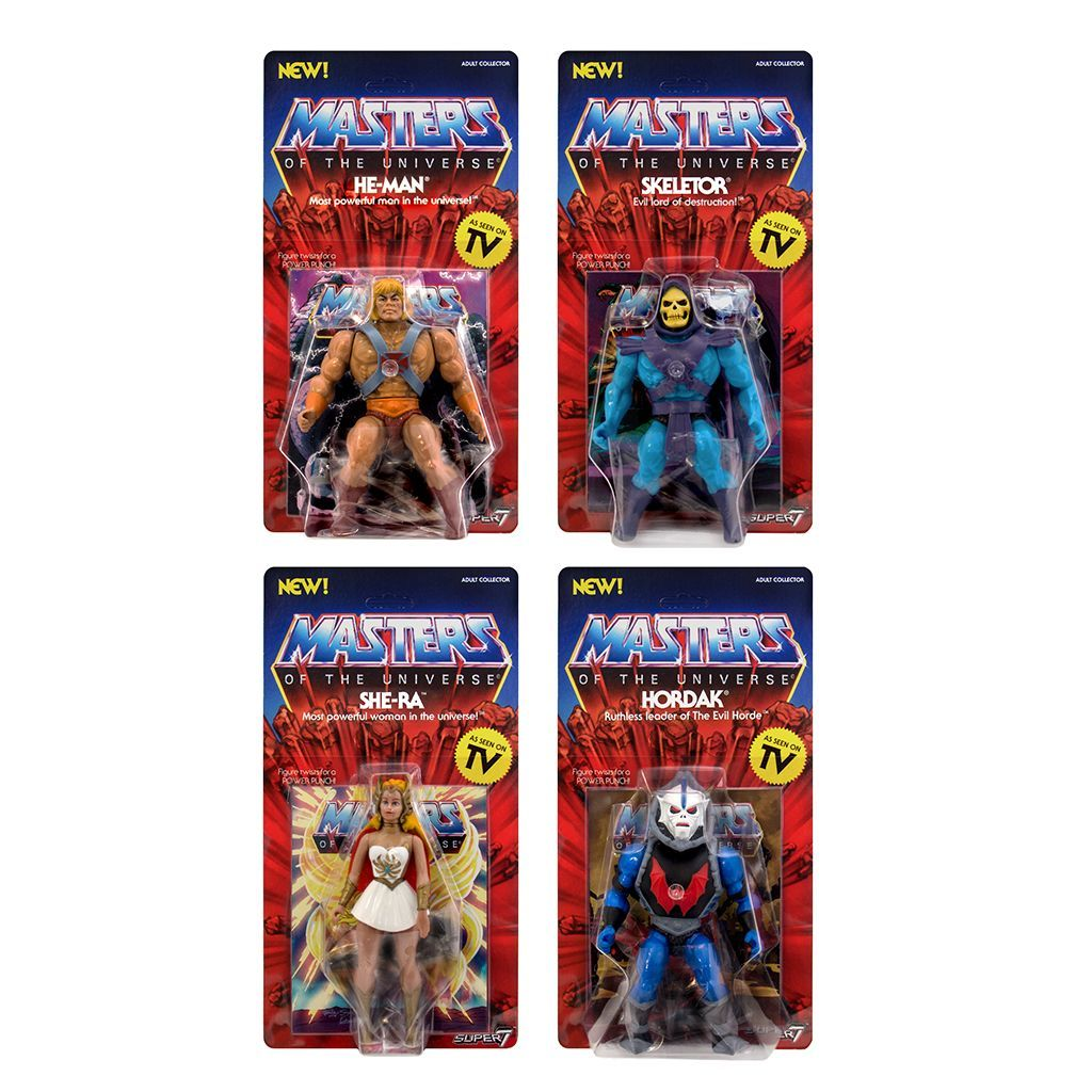 """2018 MOTU VINTAGE COLLECTION MASTERS OF THE UNIVERSE SUPER7 5.5/"""" HE-MAN NEW MOC"""