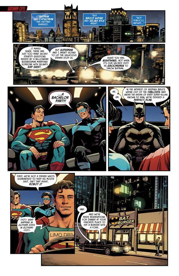 Batman: Prelude to the Wedding- Nightwing vs. Hush art by Travis Moore and Tamra Bonvillain