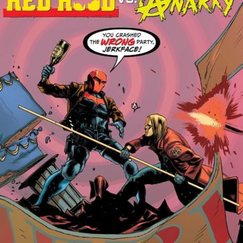 Red Hood vs. Anarky #1 cover by Rafael Albuquerque and Dave McCaig