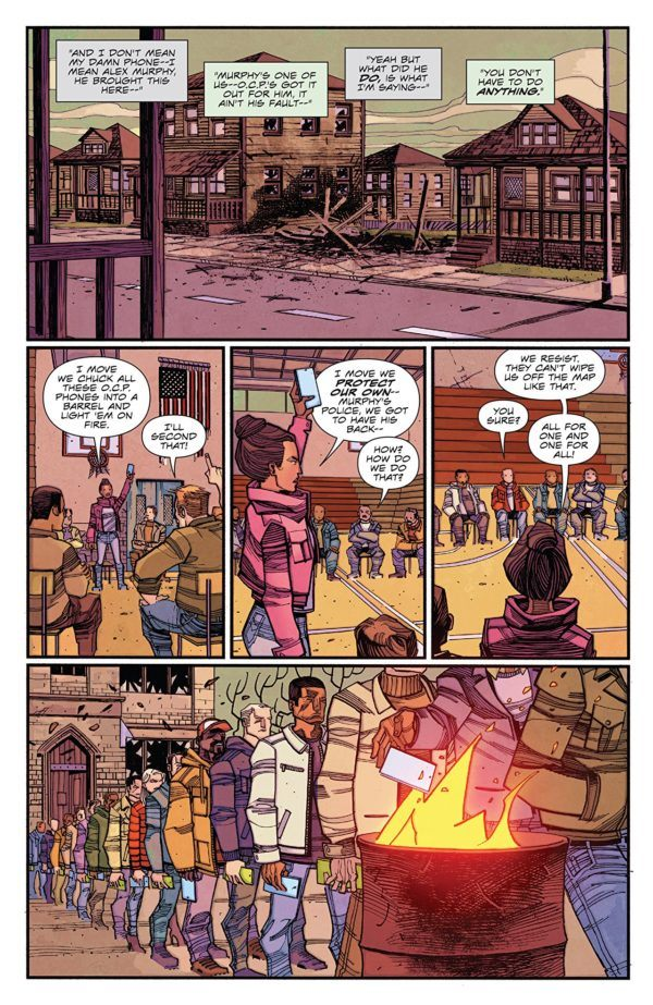 Robocop: Citizen's Arrest #3 art by Jorge Coelho and Doug Garbark