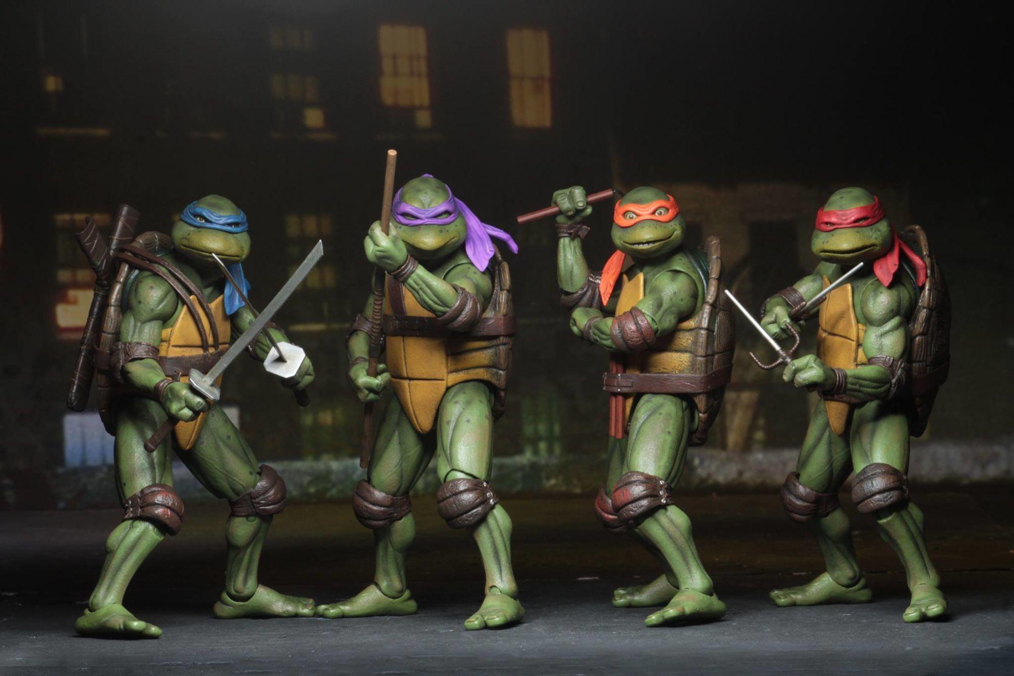"""NECA SDCC 2018 TMNT Teenage Mutant Turtles 1990 Movie 7/"""" PVC Action Figur Modell"""