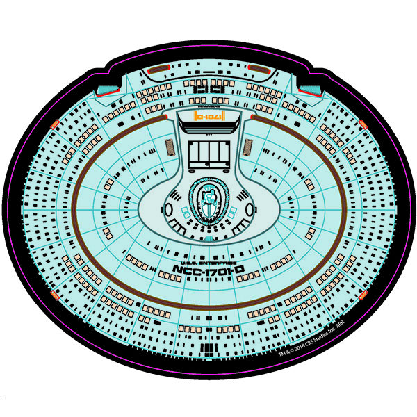 Star Trek TNG NCC 1701 D Saucer Mouse Pad Icon Heroes SDCC