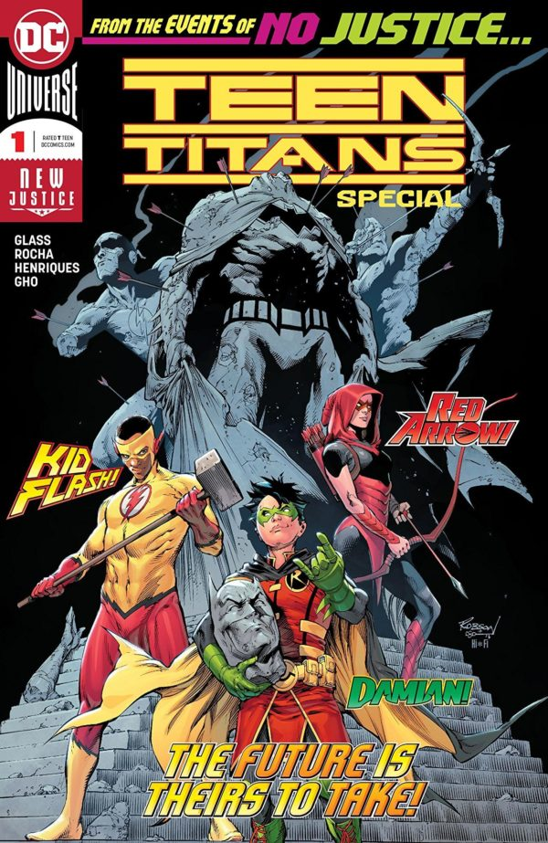Teen Titans Special #1 cover by Trevor Scott, Robson Rocha, and Hi-Fi
