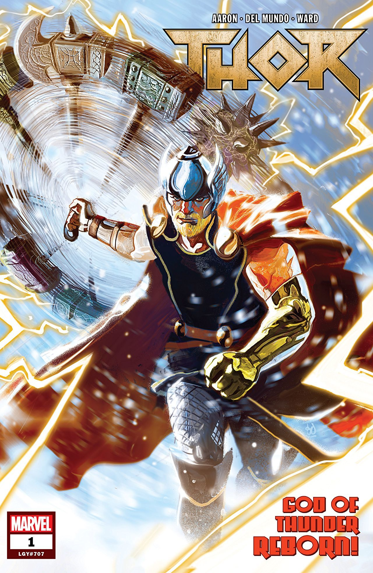 Thor #1 cover by Mike del Mundo