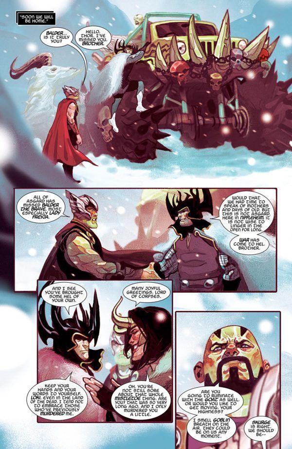 Thor #2 art by Mike del Mundo
