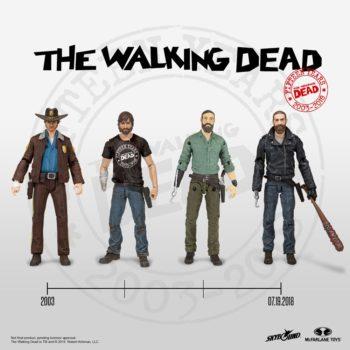 Walking Dead Evolution of Rick Grimes SDCC 2018