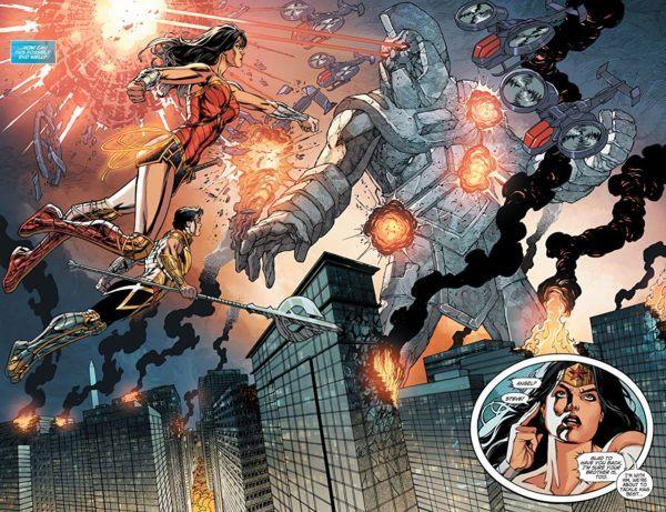 Wonder Woman #49 art by Jesus Merino and Romulo Fajardo Jr.