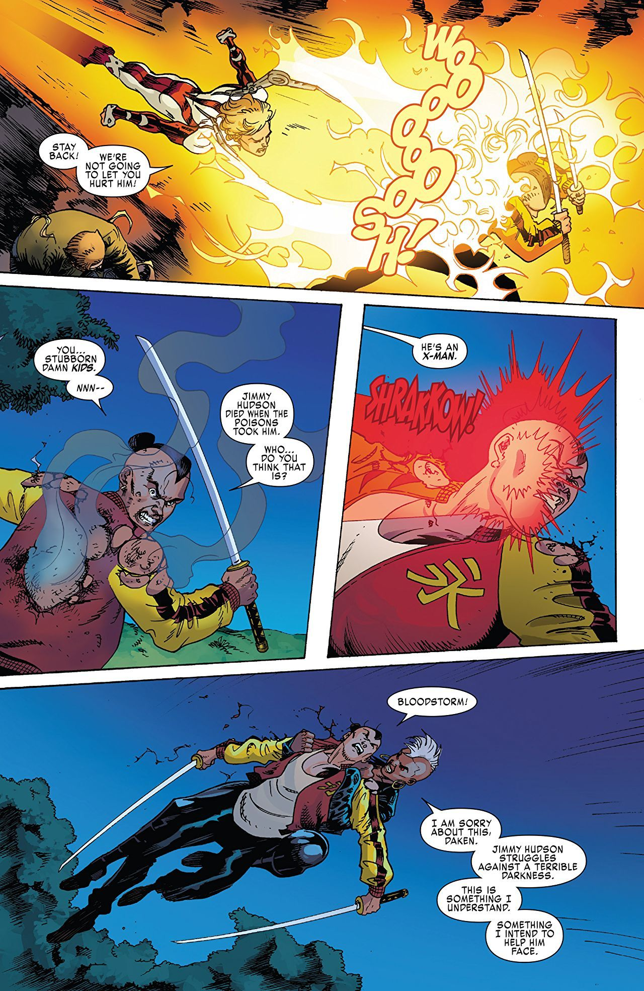 X-Men: Blue #30 art by Nathan Stockman and Matt Milla
