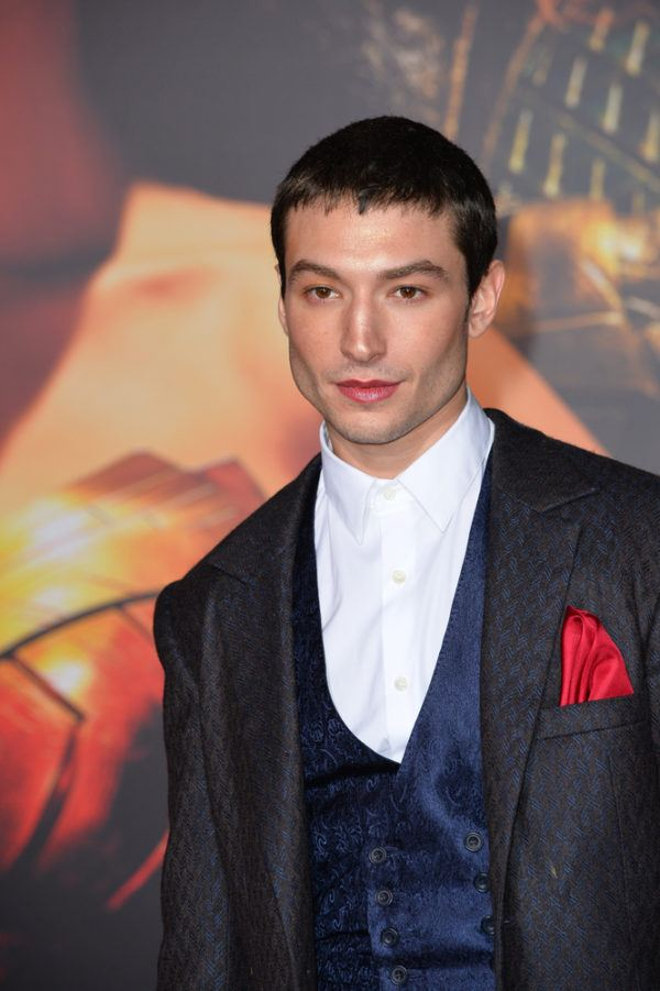"""November 13, 2017: Ezra Miller at the world premiere for """"Justice League"""" at The Dolby Theatre, Hollywood"""