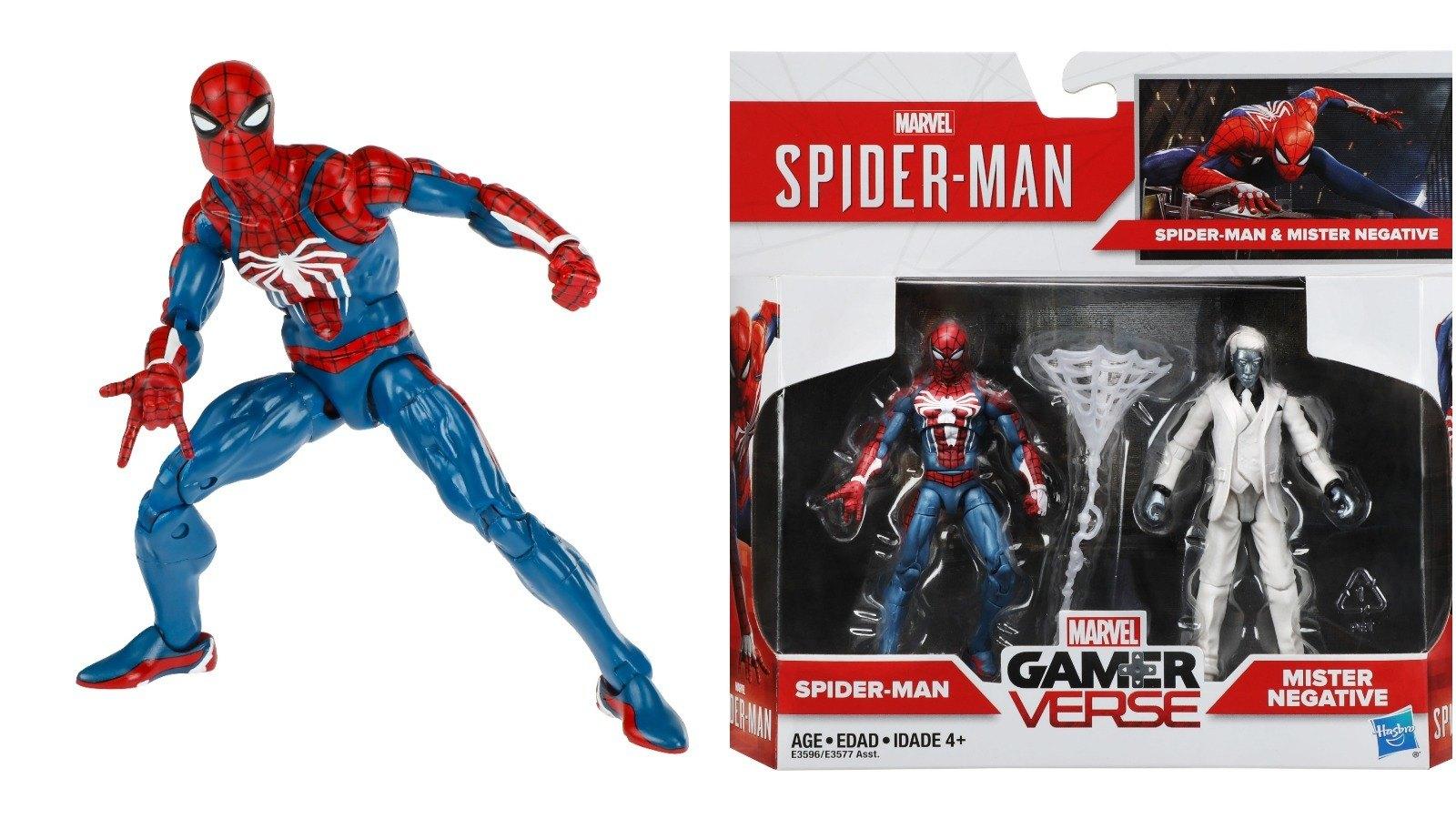 SPIDER-MAN MARVEL GAMERVERSE PS4 GAMESTOP EXCLUSIVE HASBRO ACTION FIGURE