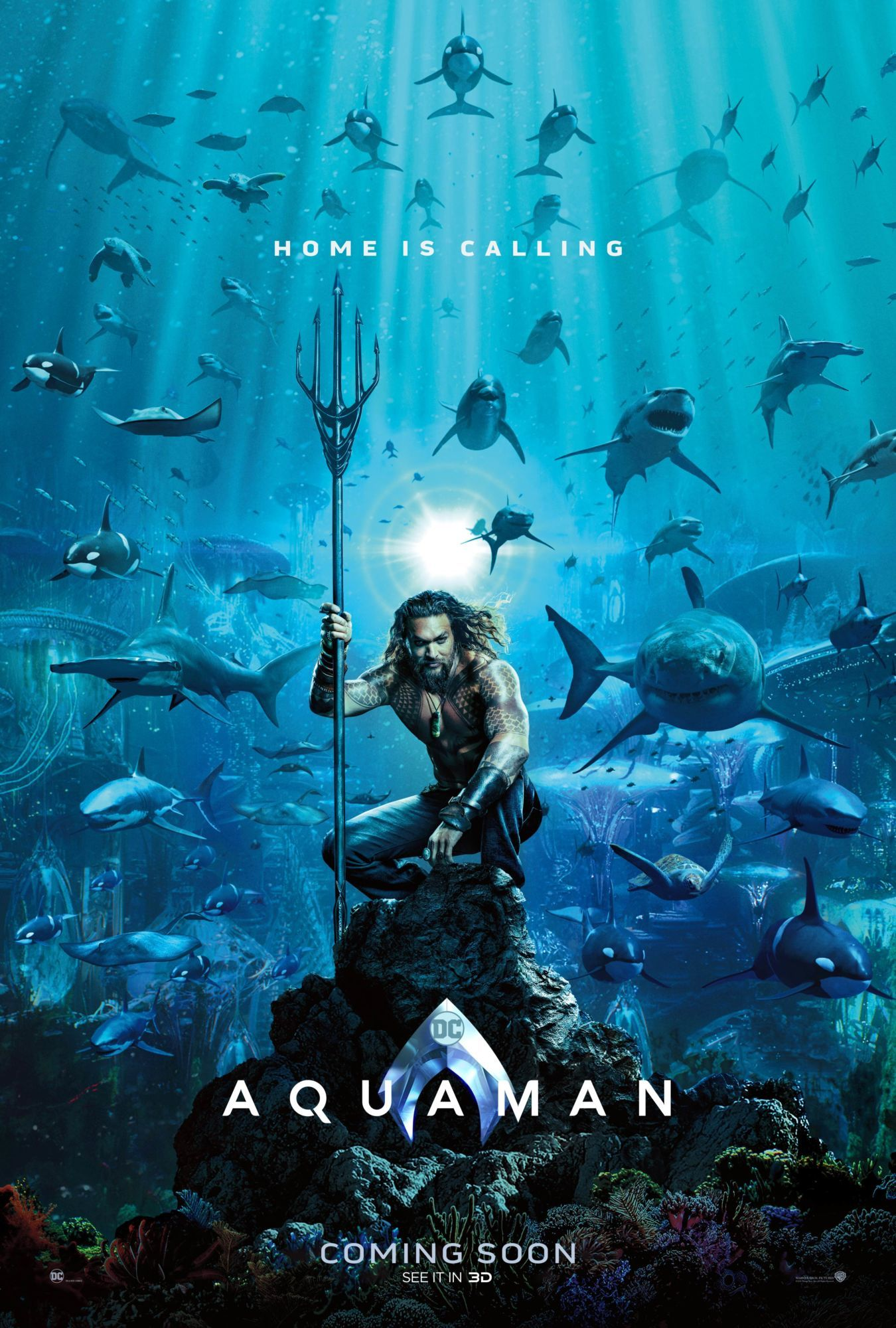 aquaman teaser poster sdcc 2018