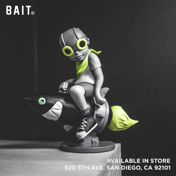 Bait SDCC Exclusive Hebru Brantley Fly Boy Figure Gray Volt Edition