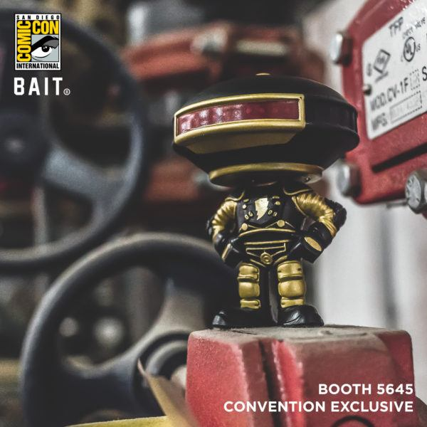 Bait SDCC Power Rangers Alpha 5 Gold and Black Funko Pop