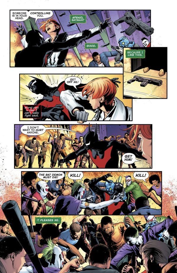 Batman Beyond #22 art by Will Conrad and David Baron