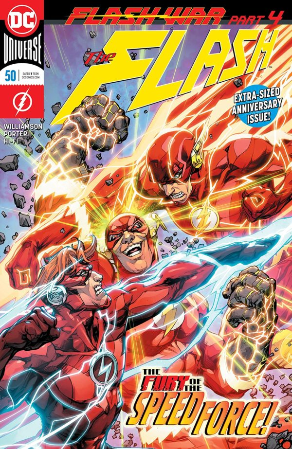 Flash #50 cover by Howard Porter and Hi-Fi
