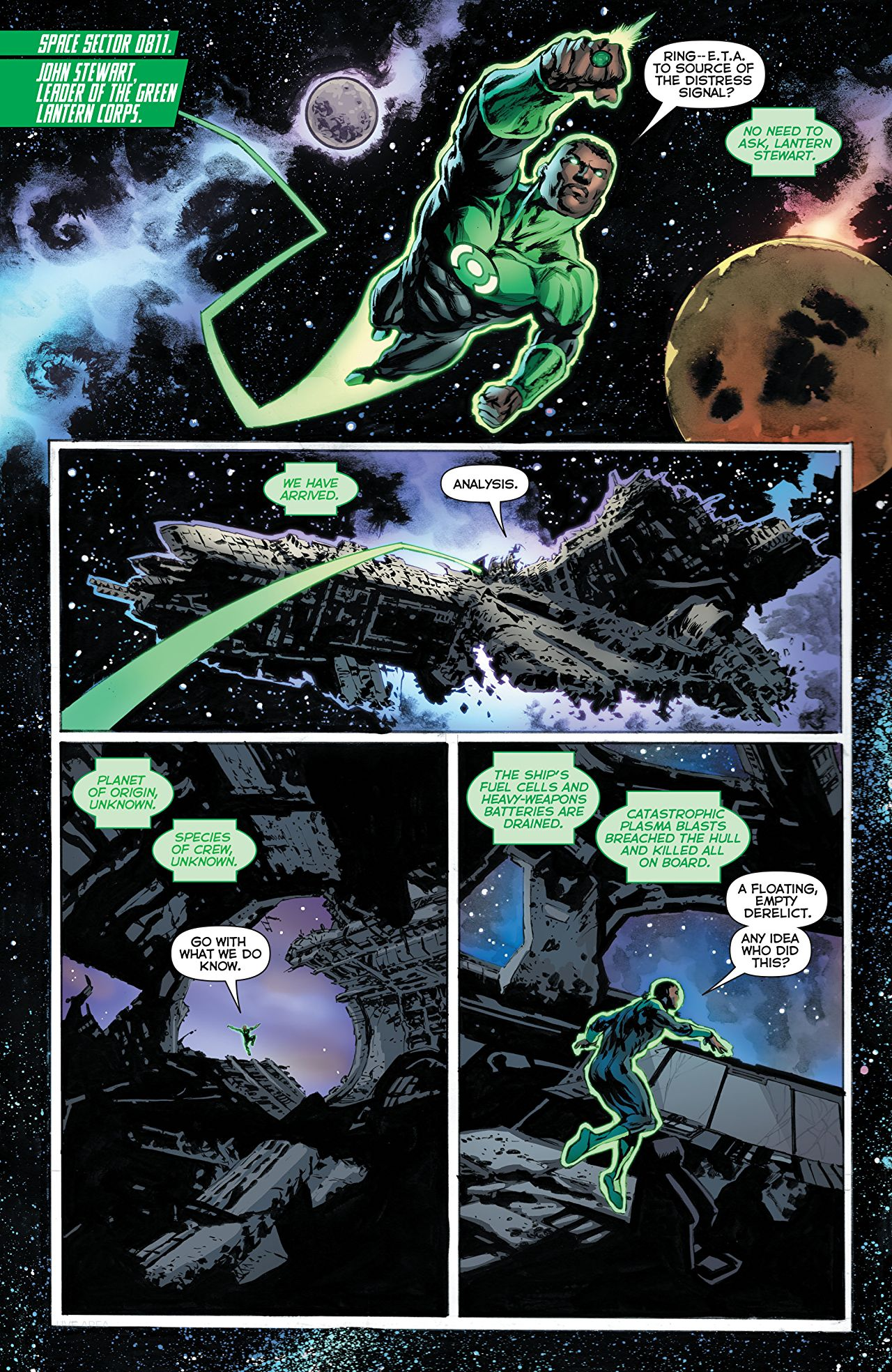 Green Lanterns #50 art by Mike Perkins and Andy Troy