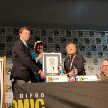 Superman Receives Guinness World Record sdcc 2018