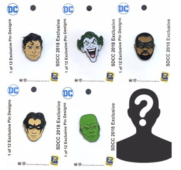 SDCC DC Comics Pins FanSets 2