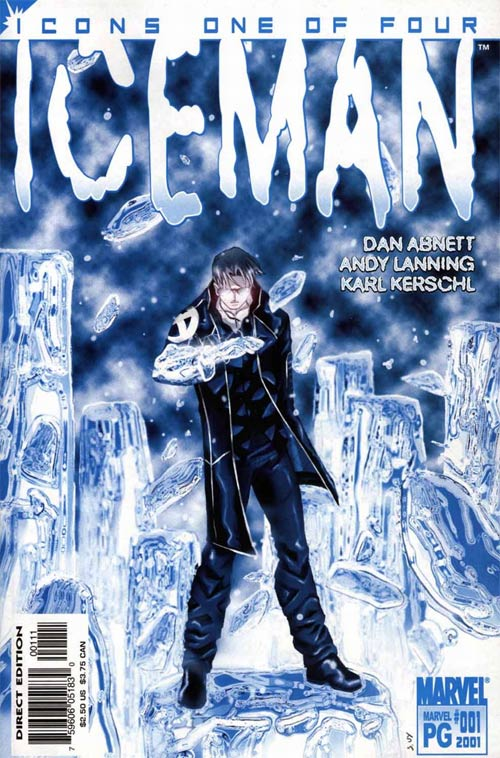 Iceman vol. 2 #1 cover by Karl Kerschl