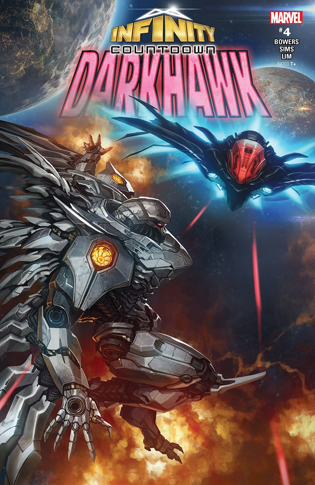 Infinity Countdown: Darkhawk #4 cover by Skan