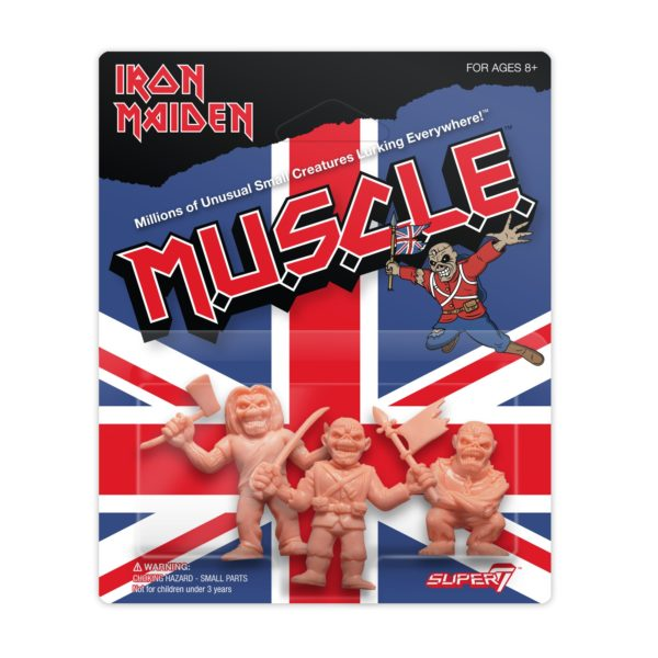 Iron Maiden MUSCLE Figure 3 Pack SUPER7 SDCC Exclusive