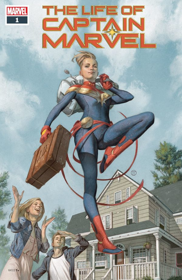 The Life of Captain Marvel #1 cover by Julian Totino Tedesco