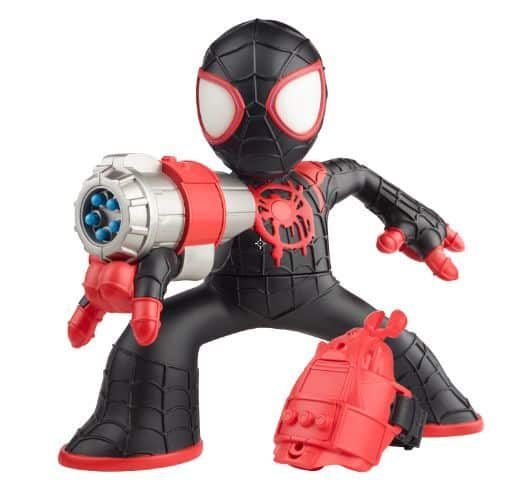 MARVEL SPIDER-MAN INTO THE SPIDER-VERSE SHOCK STRIKE MILES MORALES SPIDER-MAN Figure - oop