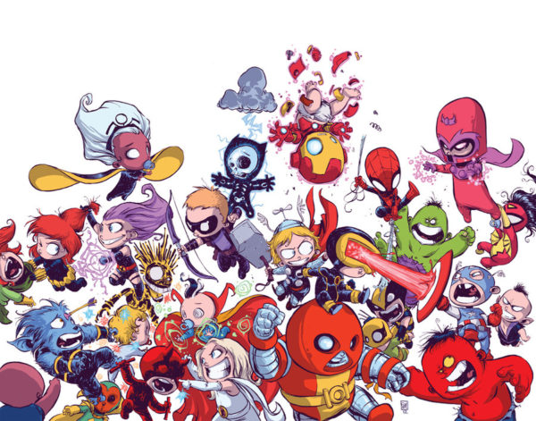 Avengers vs. X-Men Marvel Babies variant cover by Skottie Young