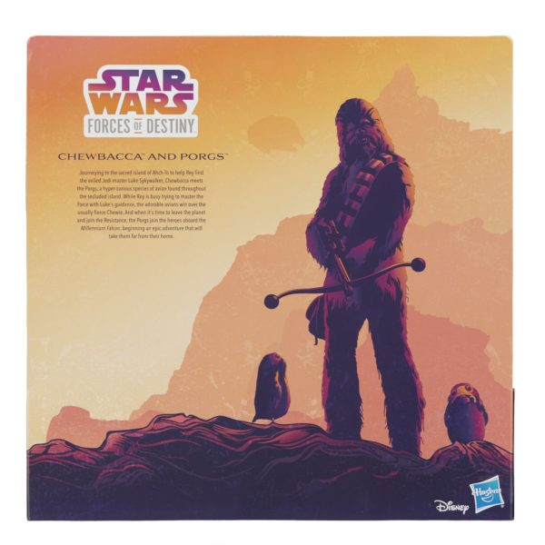 STAR WARS FORCES OF DESTINY CHEWBACCA AND PORGS - in pkg3