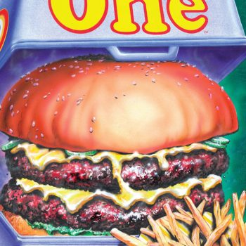 Rick Veitch's the One #6 cover by Rick Veitch