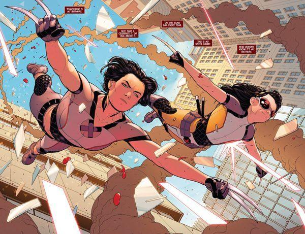 X-23 #1 art by Juann Cabal and Nolan Woodard