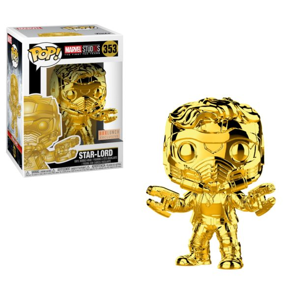 BoxLunch Exclusive Star-Lord Funko Pop_Gold