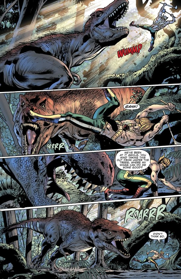 Hawkman #3 art by Bryan Hitch, Andrew Currie, Paul Neary, Alex Sinclair, and Jeremiah Skipper