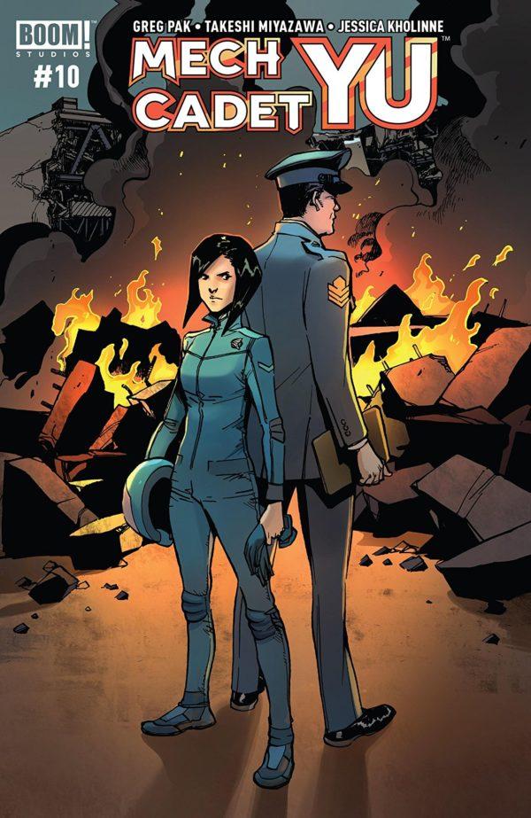 Mech Cadet Yu #10 cover by Takeshi Miyazawa and Raul Angulo