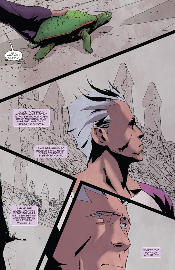 Quicksilver: No Surrender #4 art by Eric Nguyen and Rico Renzi