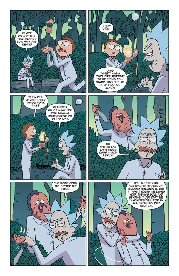 Rick and Morty #40 art by Marc Ellerby and Sarah Stern