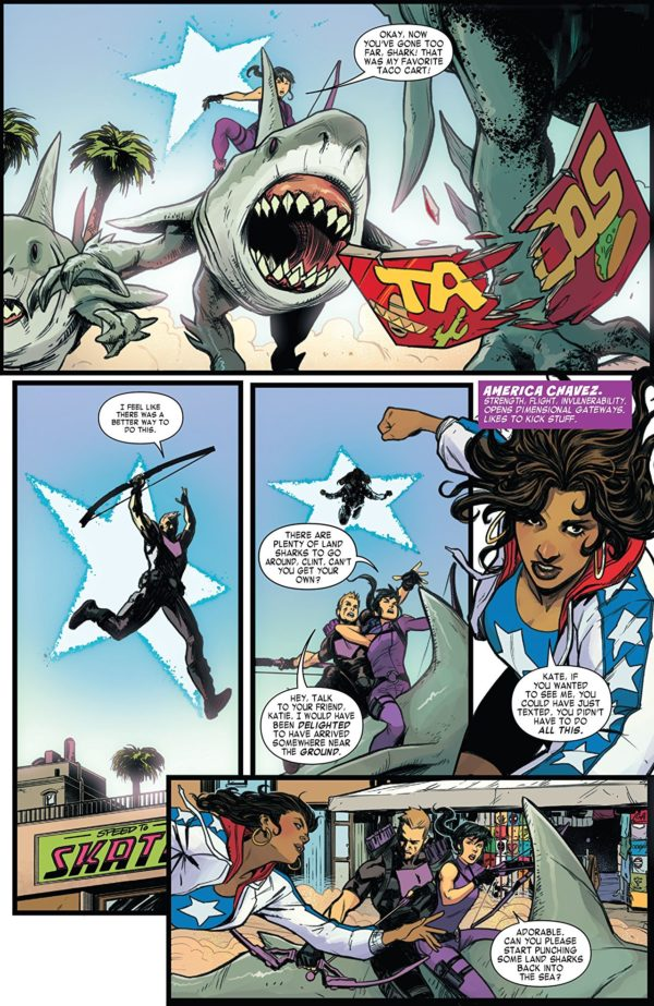 West Coast Avengers #1 art by Stefano Caselli and Triona Farrell
