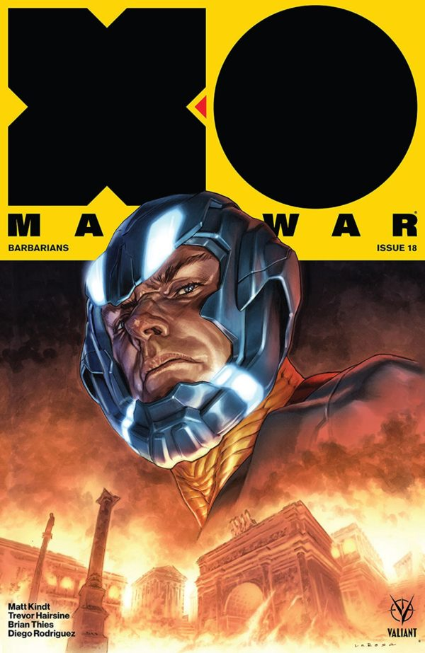 X-O Manowar #18 cover by Lewis Larosa