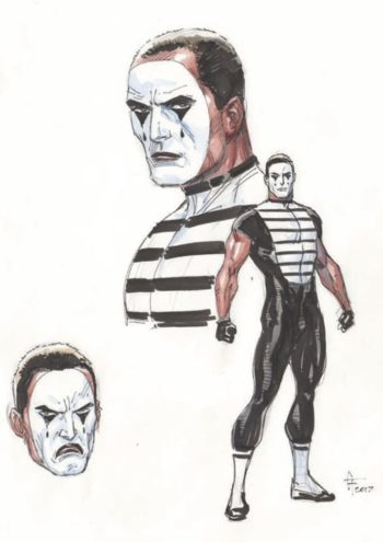 gary frank s designs for mime and marionette from doomsday clock