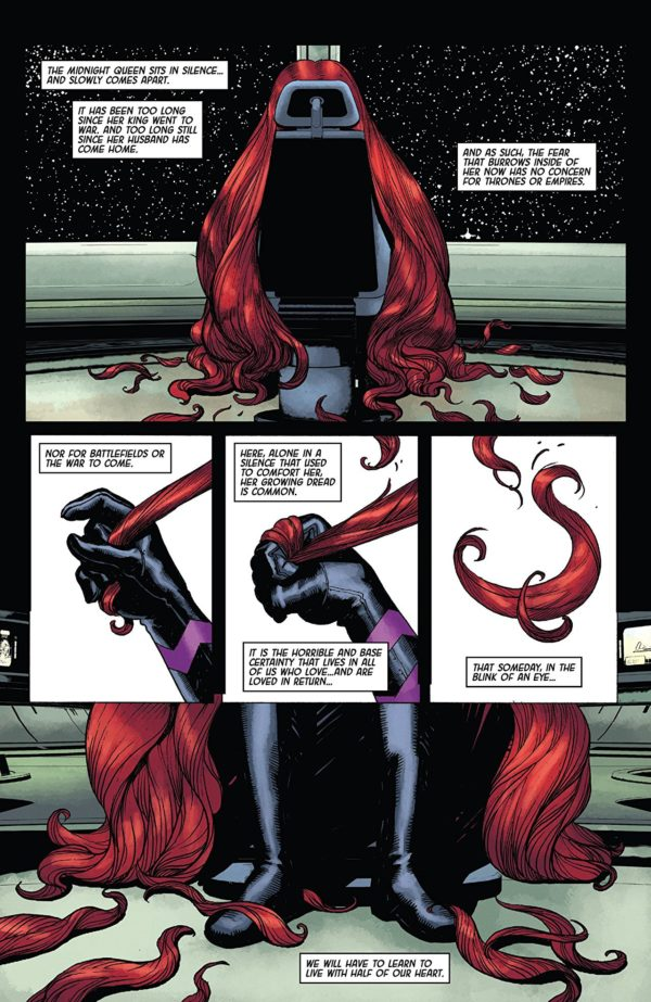 Death of the Inhumans #3 art by Ariel Olivetti and Jordie Bellaire