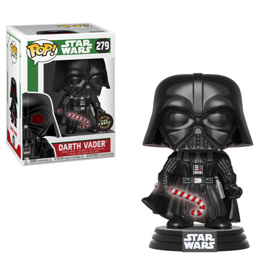 Funko Holiday Star Wars Darth Vader Glow Chase Pop