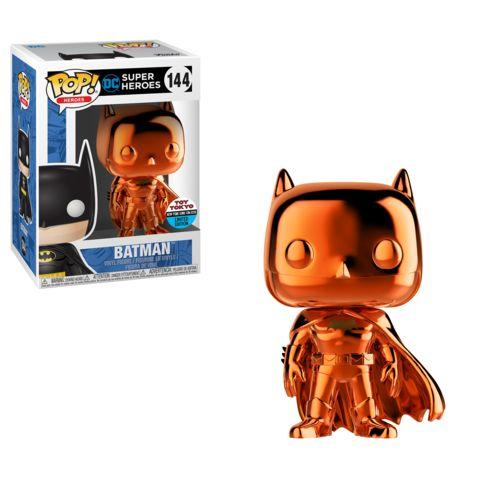 Funko NYCC Orange Chrome Batman Toy Tokyo